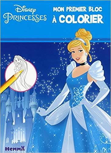 Coloriage Masque Cendrillon.Disney Princesses Mon Premier Bloc A Colorier Cendrillon Amazon