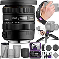 DIGITAL GOJA IS A SIGMA AUTHORIZED DEALER. 4-YEAR LIMITED WARRANTY. - No used, open box, or grey-market products are ever sold. Bundle includes: - Sigma 10-20mm f/3.5 EX DC HSM Lens for Canon - Altura Photo Mini Tripod with Pistol Grip...