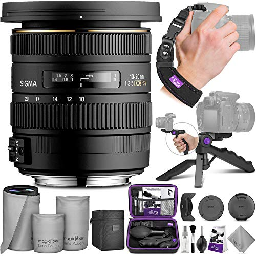 Sigma 10-20mm f/3.5 EX DC HSM ELD SLD Wide-Angle Lens for Nikon DSLR Cameras with Altura Photo Essential Accessory Bundle
