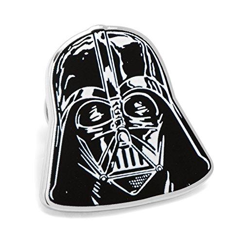Star Wars Mens Enamel Silver Plated Lapel Pin (Darth Vader - Silver & Black)