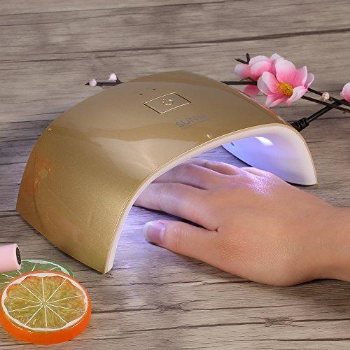 Acrylic Nail Dryer UV Nail Lamp, EECOO Polish Curing Lamp Machine for Nail Art DIY Design at Home/Salon(US Plug-Golden)