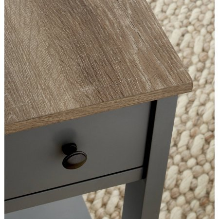 Laurel Narrow Wooden Accent Table With Storage Shelf and Drawer With Metal Knob, Gray by Better Homes and Gardens (Image #1)