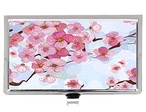Cherry blossom tree Style Fashion Design Personlized Stainless Steel Professional Business Card Holder