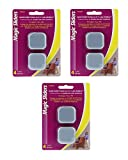 Magic Sliders 04045 Self-Adhesive Squares 1 3/4 inch-4 Count (Pack of 3)