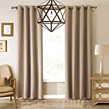 VOGOL Room Darkening Thermal Insulated Blackout Solid Window Curtains/Drapes/Panels for Bedroom,52 x 84Inch,2 Panels,Top Grommets For Sale