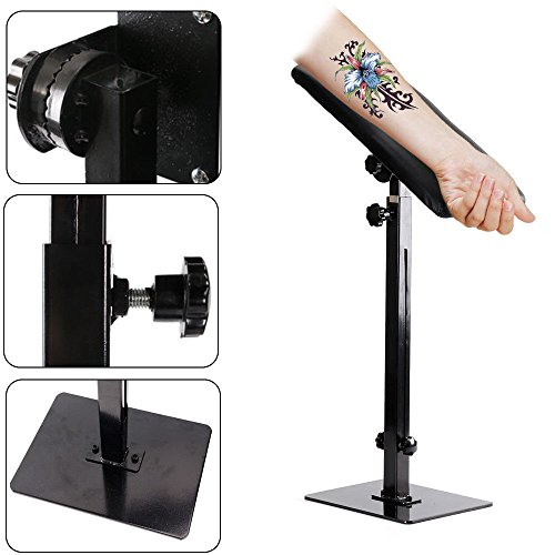 Salon Studio - Heavy Duty Full Adjustable Tattoo Armrest Leg Rest Tattoo Stand Salon Studio Chair Sponge Pad with Bracket 68-100cm/26.7739.37inch