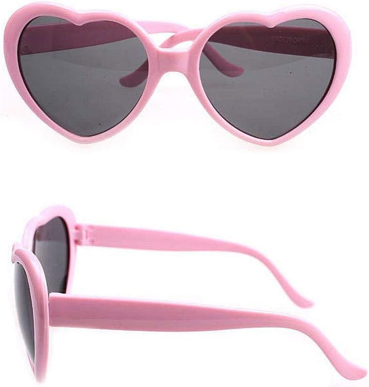 Mode-Pers/önlichkeit Nette Sonnenbrille f/ür M/ädchen Erwachsene Frau Brownrolly Star Daren mit der herzf/örmigen Sonnenbrille