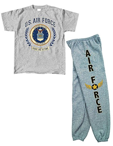 US Air Force Military Lounge Sweatpants and T-Shirt Gift Set