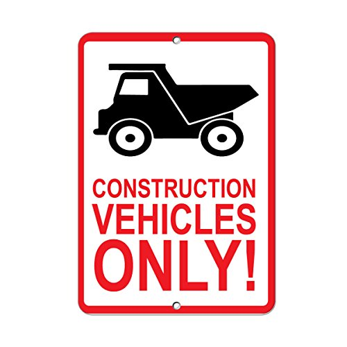 Construction Vehicles Only! Parking Sign Aluminum METAL Sign 18 in x 24 in from Fastasticdeals