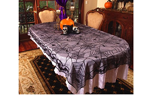 Halloween Lace Home Décor - Spider Lace Table Cloth