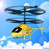 Leegor RC 2.5CH Mini 2.5-Channel Helicopter Radio Remote Control Flying Aircraft Shatter Resistant Double Propeller LED Drone