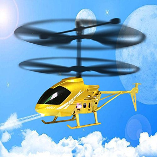 Leegor RC 2.5CH Mini 2.5-Channel Helicopter Radio Remote Control Flying Aircraft Shatter Resistant Double Propeller LED Drone by Leegor