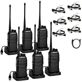 6x Radioddity GA-2S UHF 1500mAh 96Hr 16CH Scan Two way Radio  Free Prgram Cable