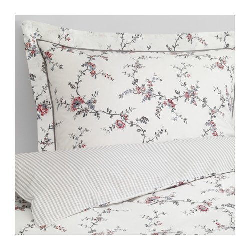 Ikea King Size Duvet cover and pillowcase(s), flower - Ikea Size Duvet King Cover
