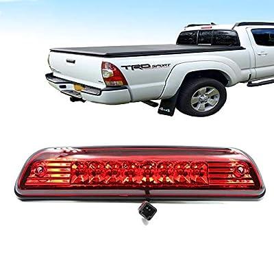 Red LED 3rd Brake Lights High Mount Stop Brake Light For 1995-2015 Toyota Tacoma Electroplating Housing Red Lens: Automotive