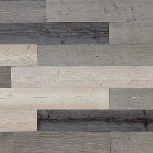 Reclaimed Rustic Wall Planks/Self Adhesive Weathered Barn Wood Wall Panels/Simple Peel and Stick Application