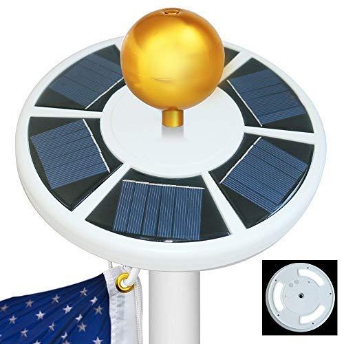 Best Sunshine Solar Flag Pole light 42 LED, IP65 Weatherproof Flagpole Downlight for 15 to 25 Ft Top {Upgraded Version}, Auto On/Off Night Lighting [並行輸入品] B07R7R9BHM
