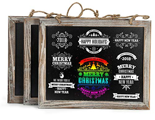 Mini California Frame (Cade Vintage Framed Kitchen Chalkboard - Decorative Chalk Board for Rustic Wedding Signs, Kitchen Pantry & Wall Decor (3, 8*9.5in))