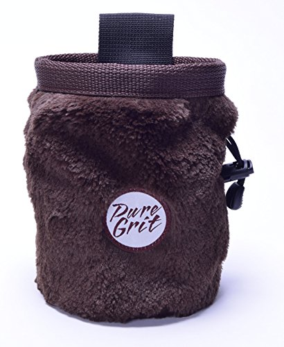(Pure Grit The Griz Furry Chalk Bag (Made in Usa) with Belt)