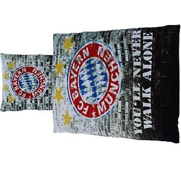 Fc Bayern München Bettwäsche Mauer Linon Bundesliga Fussball