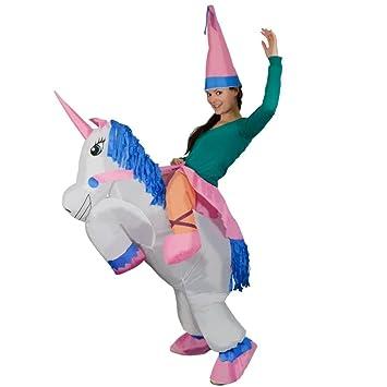 Rexco 219407 - Disfraz de unicornio inflable para adultos ...