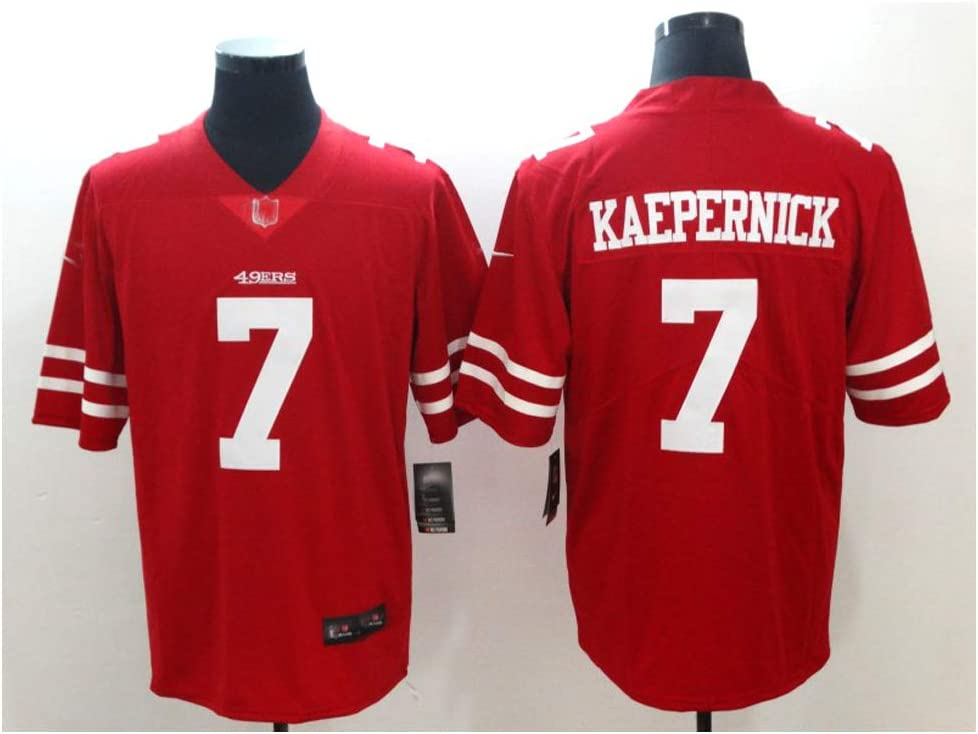 Colin Kaepernick # 7 Camiseta de f/útbol americano dise/ño de San Francisco 49ers