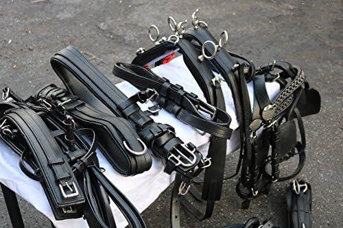 Equipride - Juego de arnés para caballos (resistente), color negro ...