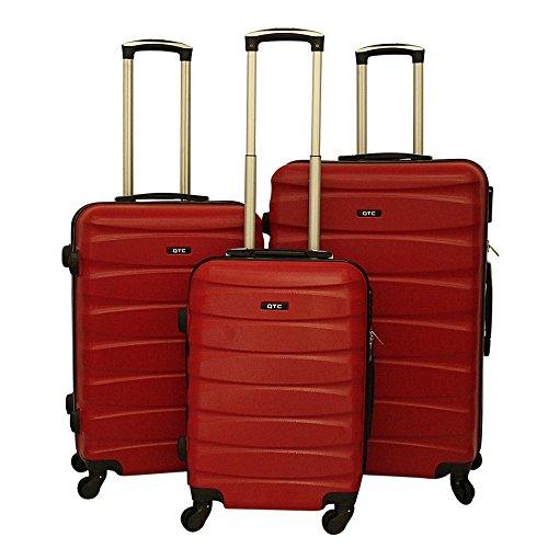 Hartschalen Reisekoffer QTC MAILAND A Trolley Case M L XL Reise Tasche Koffer (L (68 cm ), Rot)
