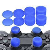 YoRHa Professional Thumb Grips Thumbstick Joystick Cap Cover (blue) Extra High 8 Units Pack for PS4, Switch PRO, PS3, Xbox 360, Wii U tablet, PS2 controller
