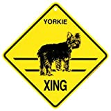 KC Creations Yorkie - Puppy Cut Xing Caution Crossing Sign Dog Gift