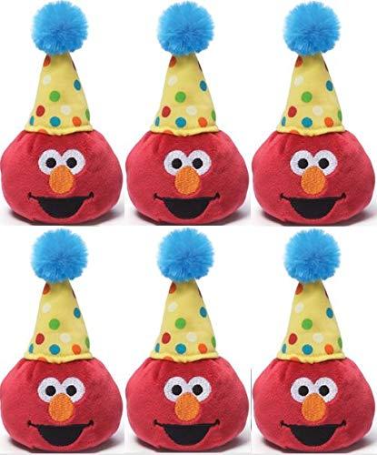 - Gund Sesame Street 3.5 inch Birthday Beanbag Pals (6 Elmo)