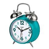 "Sharp SPC851 Twin Bell Alarm Clock, Teal, 8"""