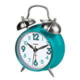 Sharp SPC851 Twin Bell Alarm Clock, Teal, 8'