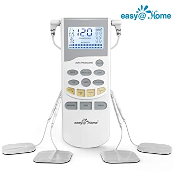 Easy@Home Professional Grade Rechargeable TENS Unit Electronic Pulse Massager: