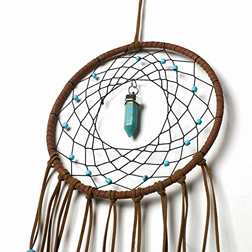 DUOER-wind chimes Handmade Dream Catcher Feather Colorful Living Room Garden Hanging Pendant Home Car Hanging Decor Dream Catcher Ornament (Color : Style 1) by DUOER-wind chimes (Image #5)