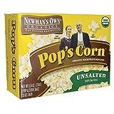 Newmans Own B35147 Newmans Own Organics Microwave No Butter, No Salt Pops Corn - 12x3x2.8 Oz