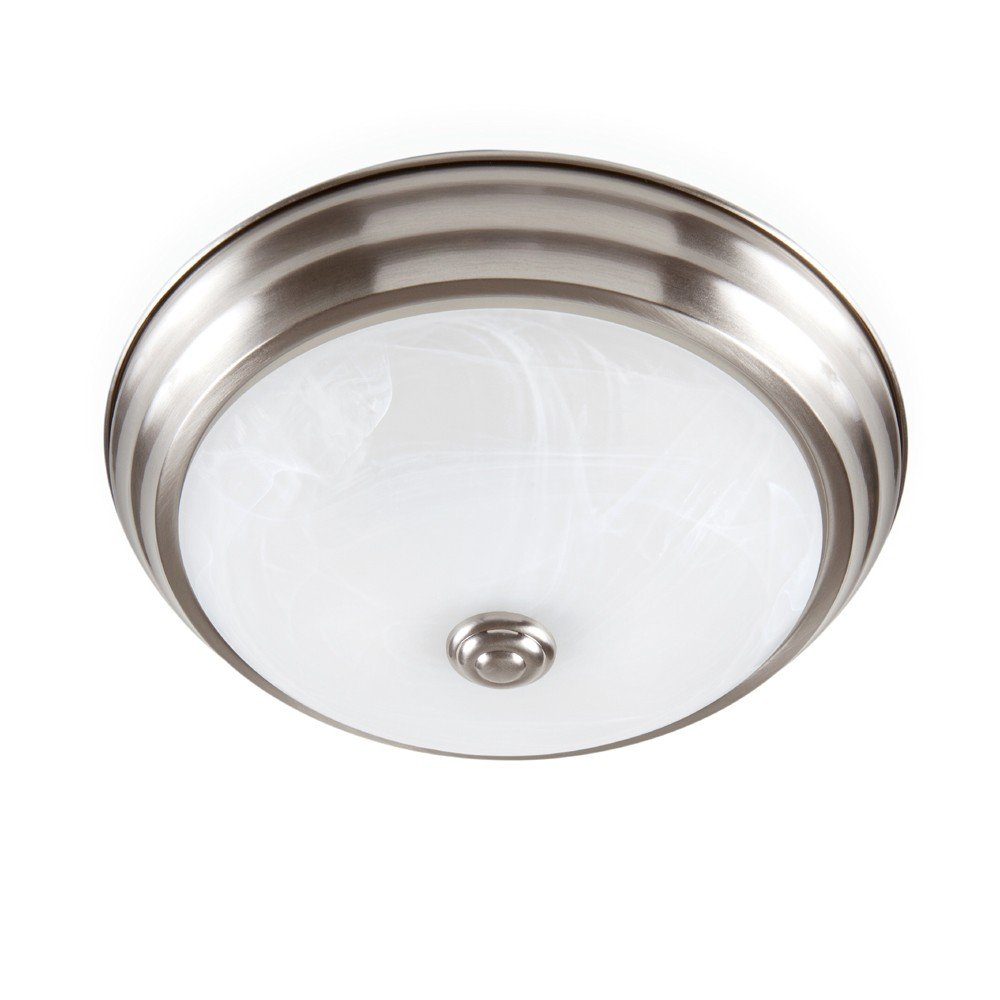 Designers Fountain EVLED502-35-DF Modern Brushed Nickel LED Flush Mount with Alabaster Glass, 11""