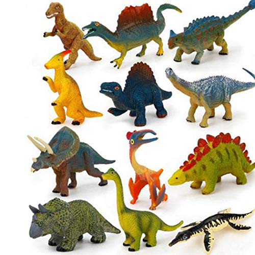 Erholi Kids Mini Jungle Animals Forest Toys Set Toddlers Learning Educational Toy Action Figures