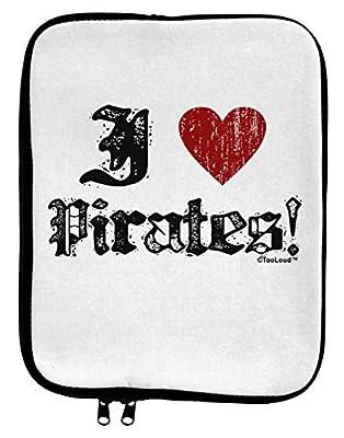 TooLoud I Heart Pirates 9 x 11.5 Tablet Sleeve