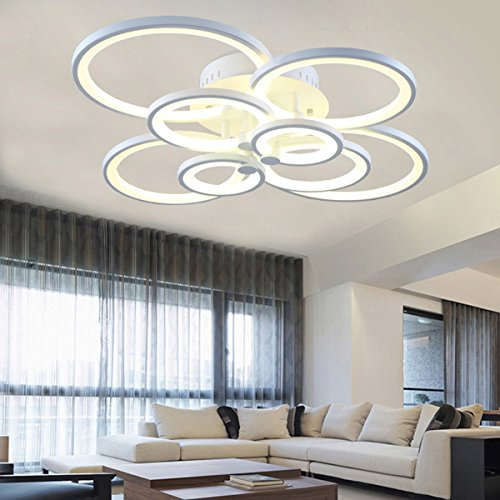 Contemporary Fixture (LightInTheBox Led 110W Flush Mount 8Lights/ Modern/Contemporary Acrylic Ceiling Light Lamp Fixtures Chandeliers (Warm White))