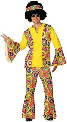 Disfraz hippie para disfraz de hombre hippie 70er flores para ...