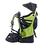 Baby toddler Hiking Backpack Carrier with Raincover Child Kid Sun canopy Shield, Green