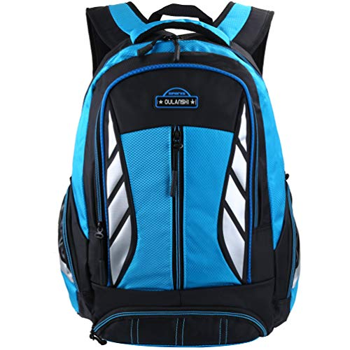 Vbiger New Style Backpack for Middle or Primary School Boys and Girls (Blue 2)