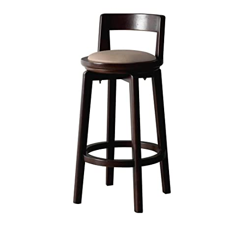 Tremendous Amazon Com Cylq Solid Wood Bar Stool Retro Rotating Machost Co Dining Chair Design Ideas Machostcouk
