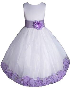 Amazon amj dresses inc baby girls whitelilac flower girl amj dresses inc baby girls whitelilac flower girl pageant dress size m mightylinksfo