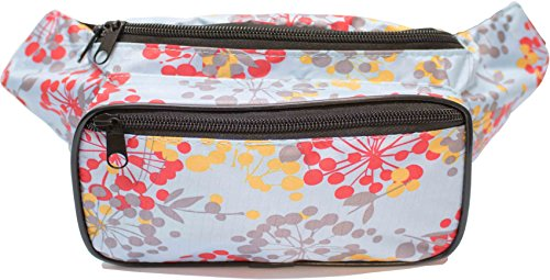 SoJourner Dandelion Floral Fanny Pack - Cute Packs for men, women festivals raves | Waist Bag Fashion Belt Bags (A Time To Double Date Best Friends Whenever)