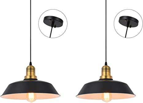 wall Single Pulley for Pendant Lamp lights Vintage Style Black Metal Ceiling