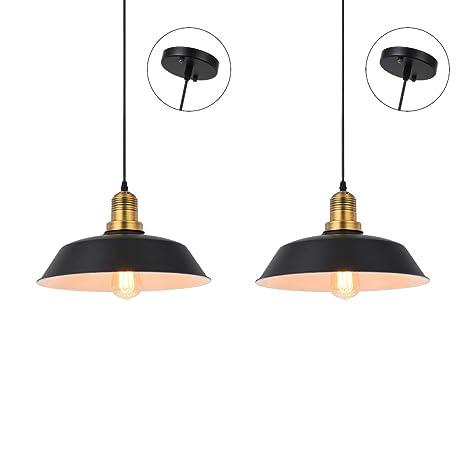 Lámpara de techo colgante de hierro industrial, lámpara de ...