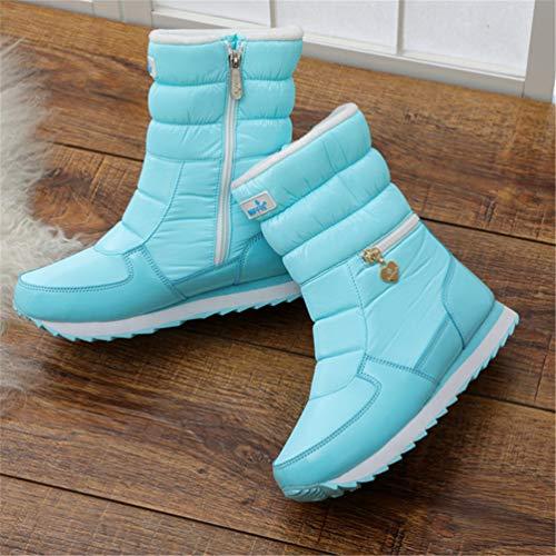 Moda Waterblue Invernali Stivali Stile Outdoor Neve Donna Scarpe wWa8q86Cg