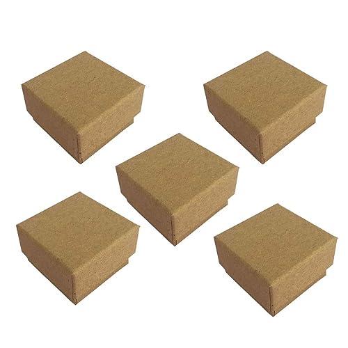 Amosfun 5 Piezas de Papel Kraft Cajas de Joyas de cartón ...